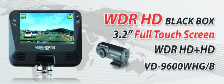 Camera hành trình chính hãng Vision Drive - VD-9600 (Cảm ứng)